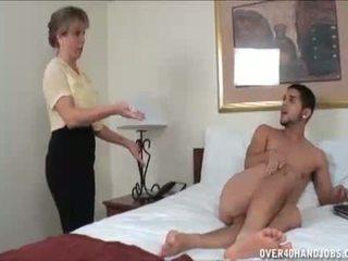 handjobs, erection, milf