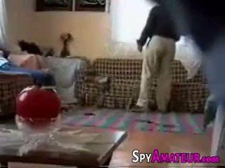 Arabic فتاة مارس الجنس شاق بواسطة الجيران