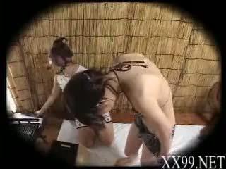 babes, massaggio, asiatico
