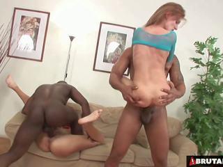 Brutalclips - monstr cocks rip both her holes: hd porno bc