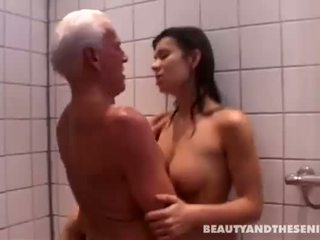 ass licking, shower, old farts