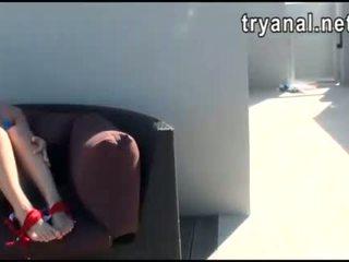 Caliente chavala evelyn lacie culo follada mientras being filmed en casa
