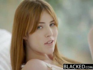 Blacked gwen stark 和 amarna miller 第一 膚色 三人行
