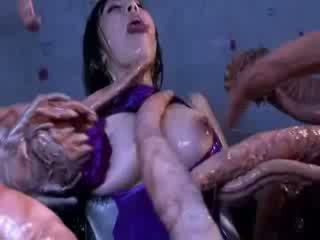 Τέρας tentacles jizzing μεγάλος boob οιεντάλ πορνό attacker όλα ο σώμα