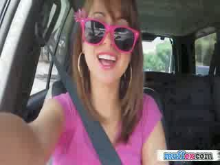 GF Riley becomes horny during a car trip