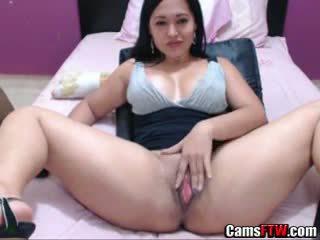 Beautiful Amateur Colombian Slut Shows Her Cunt On Web Cam