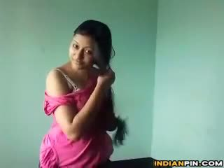 bruneta, webcam, striptýz