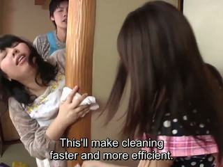 Subtitled японки risky секс с voluptuous майка в