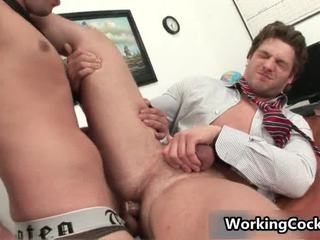Andrew Blue Receives His Firm Schlong Sucked
