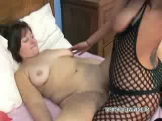 Lezzy Liisa takes a Strap on from a bigtit slut