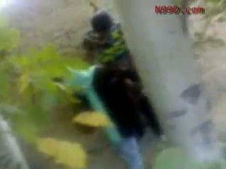 Arab iranian chica follada en la culo en la woods