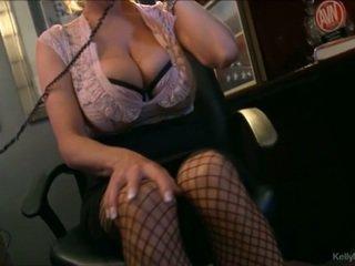 Mamalhuda kelly madison has quente telemóvel sexo em dela escritório