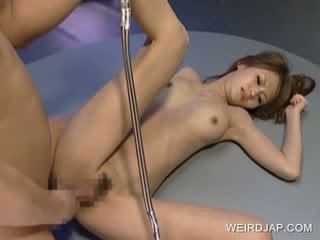 Hot asian sucking and fucking Doggy style