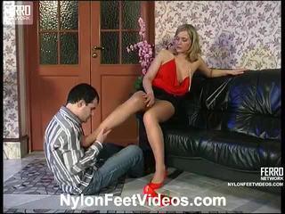 Benett And Monty Kinky Pantyhose Footsex