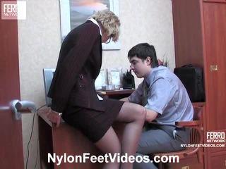 Christie in adam kewl najlonke noge actionion