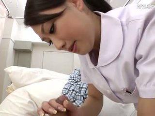 Najlonke medicinska sestra v beli nogavičke
