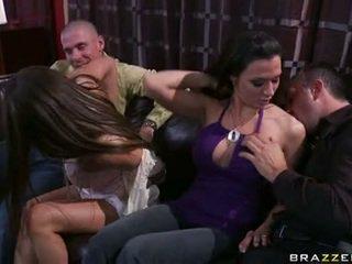 brunette, fellation, groupe baise