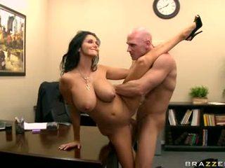 chất lượng ngực lớn tươi, văn phòng nóng, nhất văn phòng quan hệ tình dục lý tưởng