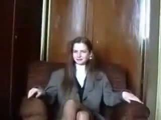 Schüchtern lettisch virgin ist seduced auf camera teil 1