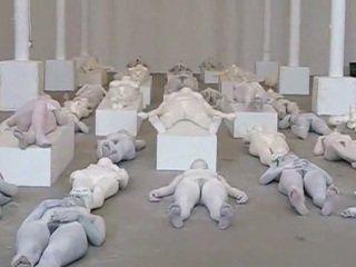 Nude art performance