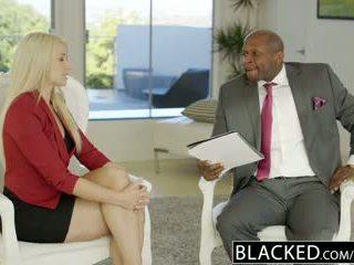 Blacked επιχείρηση ξανθός/ιά anikka albrite κώλος πατήσαμε με ένα bbc