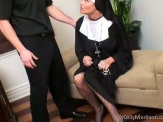 Kelly madison karistatud koos a thick riist sisse tussu