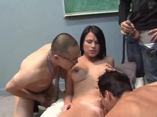 Indian wife opens wide all holes for 3 big dicks