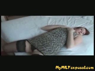 My MILF Exposed - Hot Mom in Stockings Playing with.