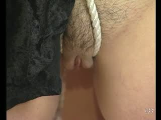 Tied up and her tits are sqeezed - Julia Reaves