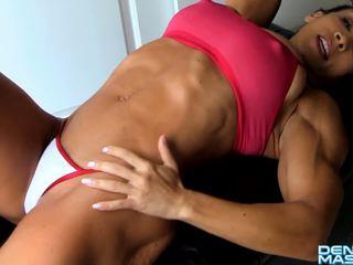 Denise masino - ab crunches kolej seksowne - female bodybuilder