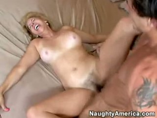Bawdy Hawt Milf Erica Lauren Receives A Hot Ooze Of Cock Sauce On Her Mouth