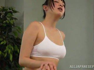 Honing reiko kobayaka was naar sexcited voor petting