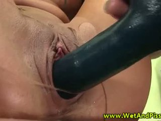 Piss; fetish beauty drenched in urine