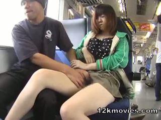 Японська публічний азіатська секс в the потяг