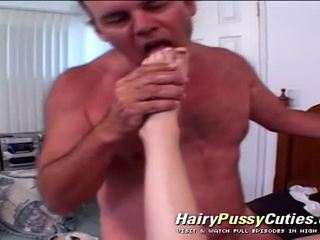 Stupid Amateur Babe's Hairy Cunt Fucke...