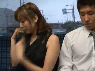Yuma Asami Appreciates Some Fat Core Making Love In A Public Bus