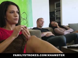 Familystrokes - fucked not my bro on movie night: porno c0