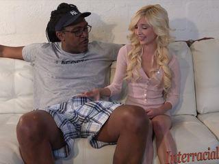 80lb Blonde Takes on 12 Inch Biggest Black Cock: HD Porn b4