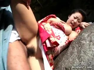 Chichihime และ เธอ นมฟู ข้างใน ประหลาด คอสเพลย์ เปิด อากาศ ร่วมเพศ