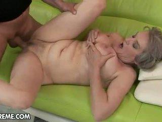 vecenīte, moms un zēniem, granny fucking