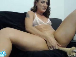 brunette, orgasme, sex toys
