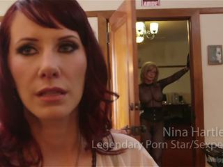 Retribution maitresse madeline taken down dominated and anally fucked by nina hartley