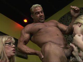 हाथापाई, groupsex, बड़ा डिक बकवास आदमी