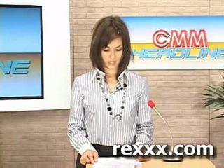 Nouvelles reporter gets bukakke pendant son travail (maria ozawa bu