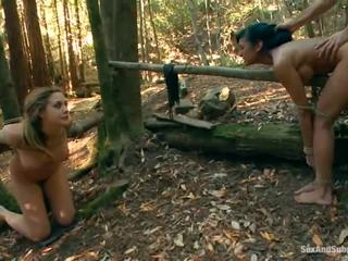 Tied up chanel preston has her brown tunnel bumped in a tokaý