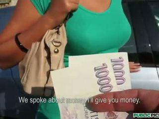 Με πλούσιο στήθος ερασιτεχνικό sucks και πατήσαμε σε δημόσιο για λεφτά