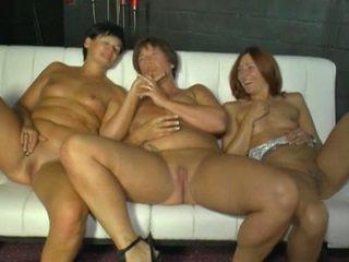 fellation, sexe de groupe, lesbiennes