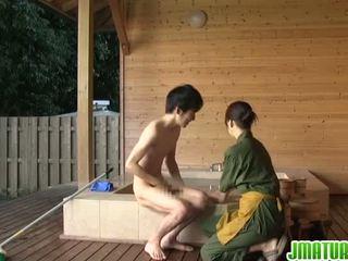 japonés, mamada, maduro