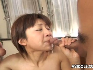 Oriental dolls ami kitazawa has got laid by pair companion uncensored
