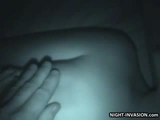 Patung stroking shaft dalam tidur